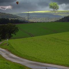 Гроза в горах Eifel