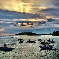 Рибалки на заході Сонця #3
