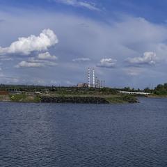 Яхт клуб. Панорама с облаками. Май 2020