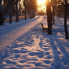 сонце і сніг