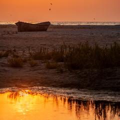 Схід сонця на Жебріянському лимані