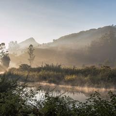 The Sun Rising in Munnar. Kerala. India