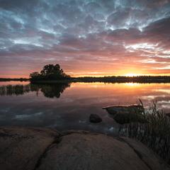 Sunset at Brändö. Åland