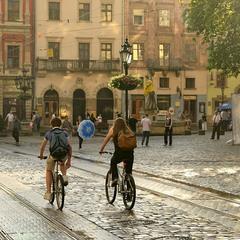 Солнце, дождь, велосипеды...