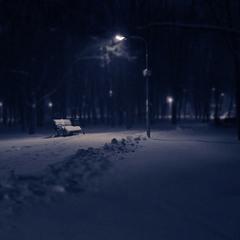 Вечер снежного дня...