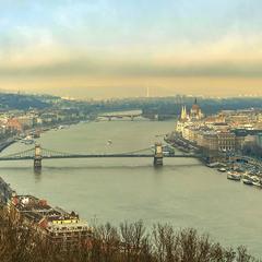 Будапешт. Панорама  с  горы Геллерт