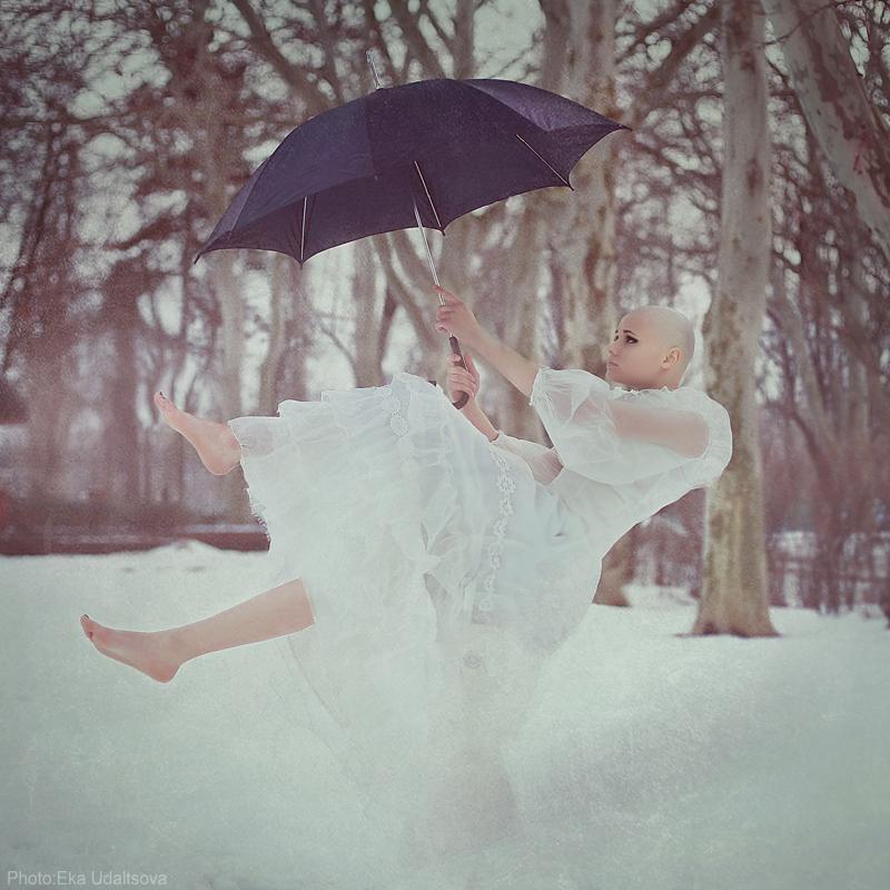 это совсем свадьба зимой фотосессия с зонтом вид получил свое