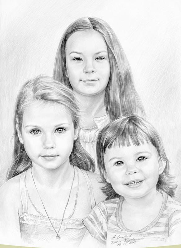 картинки сестер карандашом