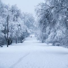 Зимовий ранок в Дніпрі