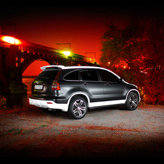 Honda CR-V черно-белый мат