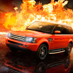 Range Rover Sport — взрывная волна