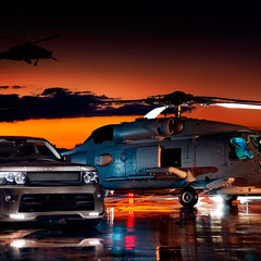 Range Rover Sport Bronze edition & helicopter Seahawk
