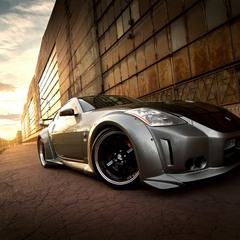 Nissan 350Z veilside sunset