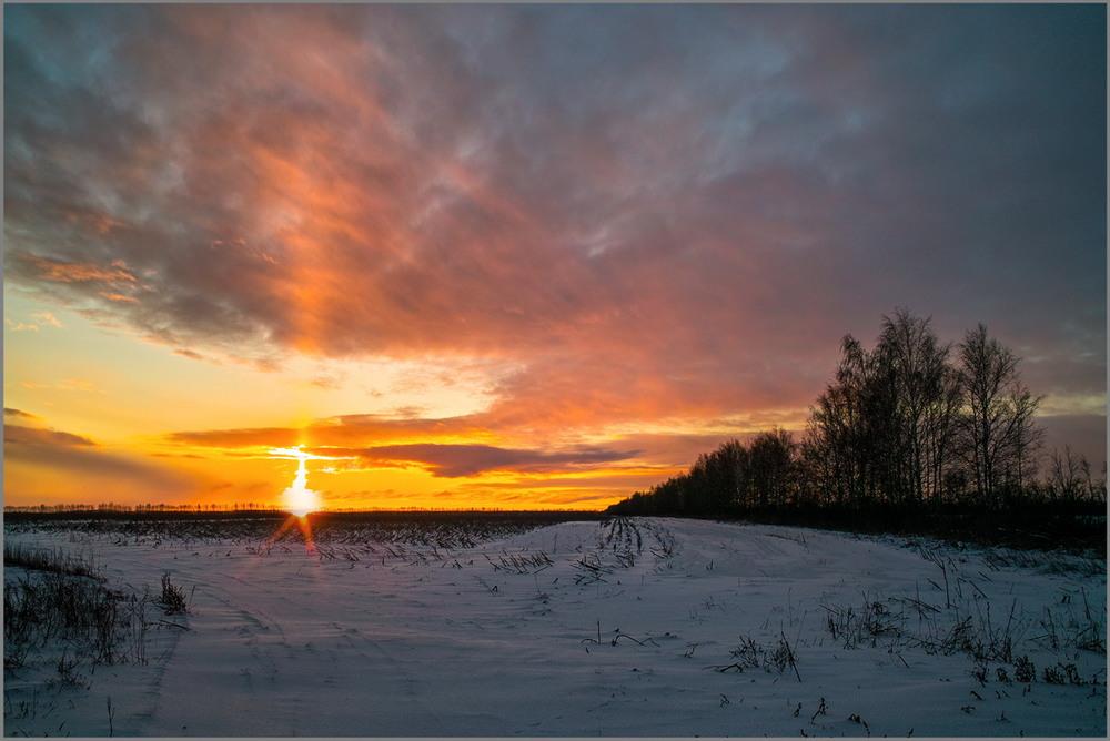 раннее зимнее утро фото настроить синхронизацию
