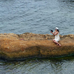 Селфи на необитаемом острове.