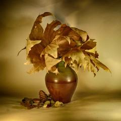 Етюд з осіннього листя