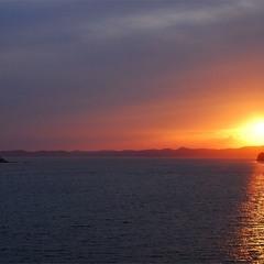 Закат солнца над о. Путятин