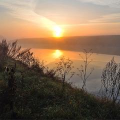 Этюд с туманом и солнцем