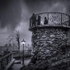 Пасмурные сумерки у Тёщиного моста.