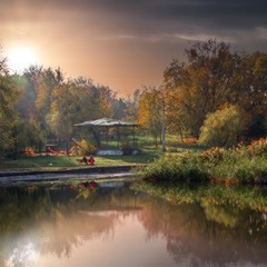 Вечер в Дюковском парке.
