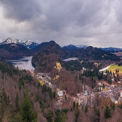 С видом на Hohenschwangau...