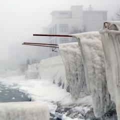 Зима. Аркадия. Туман.