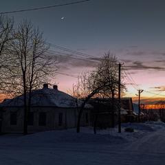 Морозний вечір в лютому 2021 р