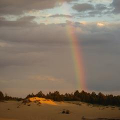 радуга в пустыне