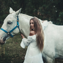 Liola with White Horse