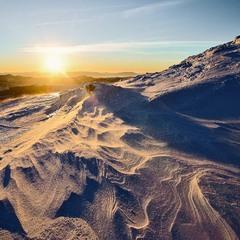 захід сонця на Петросі 30.12.12