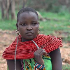 Девушка племени Самбуру