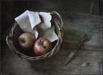 Яблочки лежали..