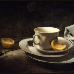 Вот, чай с лимончиком..был..