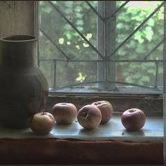 Лежали яблочки..