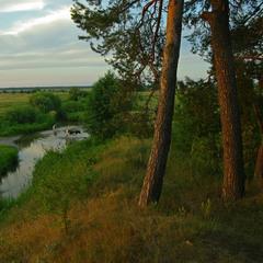 Надвечірня пора річки Білої