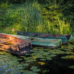 Лодки в утренних лучах