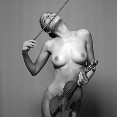 Violin with broken strings....and soul,....without strings