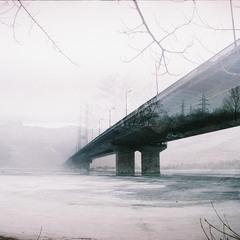 Дорога под южным мостом