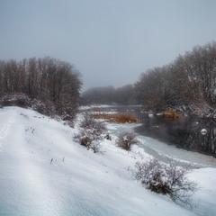 Протока Бугу взимку