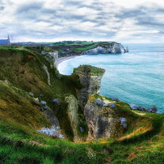 Скалистый берег Нормандии