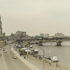 Дрезден. Набережна р. Ельби