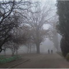 Туман в микрорайоне