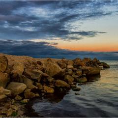 Вечер у моря:)