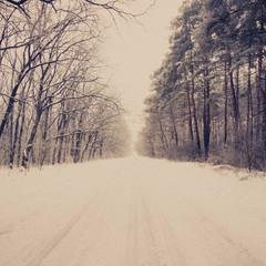 В зимний лес уютная дорога:)