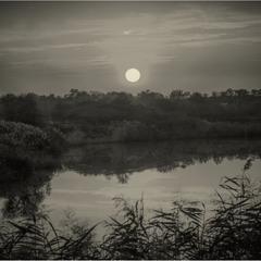Тихий вечер над рекой!