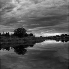Поздний вечер на реке 2)