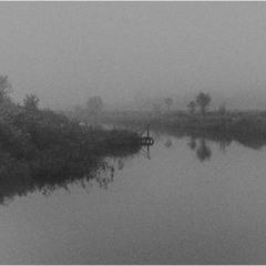 Туман над тихою рекой...