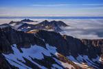 Гори, хмари, море, Норвегія приполярна.