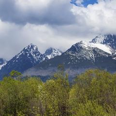 Хмари над горами.