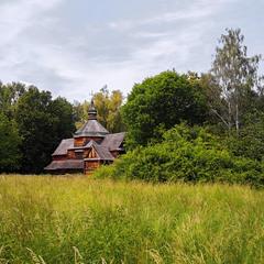 Церква в лісі заховається, буває, і сидить собі тихенько.